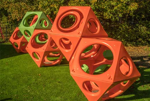 geometry inspired playground structure PlayCubes