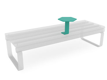 small park bench table