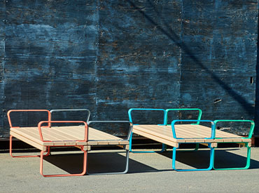 park bench in various colours